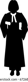 Female judge silhouette
