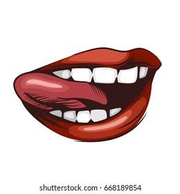 Female lips illustration