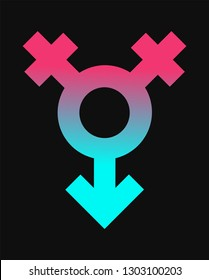 female and male gender sex icon. lgbt, lesbian or gay sexcouples logo. transsexual or homosexual vector concept