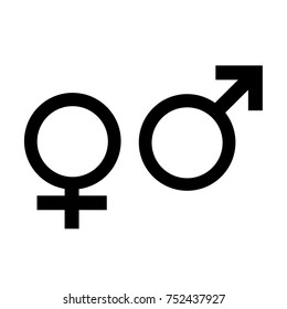 Female and male gender symbol