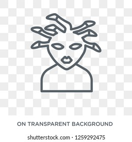 female Medusa icon. Trendy flat vector female Medusa icon on transparent background from Fairy Tale collection. High quality filled female Medusa symbol use for web and mobile