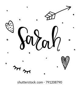 Imágenes Fotos De Stock Y Vectores Sobre Lettering Sarah