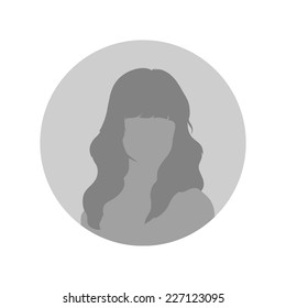 Female Profile Picture Placeholder. Vector illustration. Design social profile template.  avatar people. Flat style vector.
