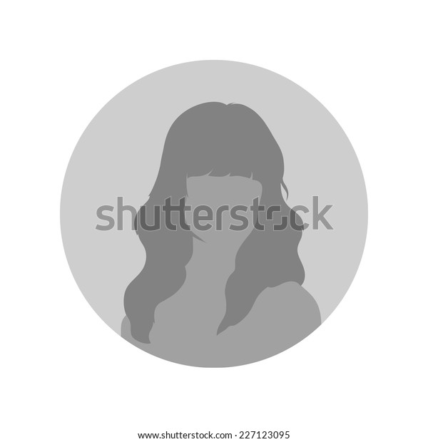 Female Profile Picture Placeholder Vector Illustration Stock Vector