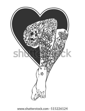 Sexy tattoo vector
