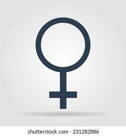 female sign icon. Flat vector illustrator Eps