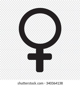female sign icon illustration
