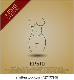 female silhouette icon vector symbol flat eps jpg app