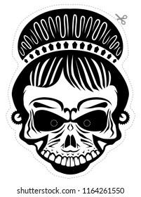 Female skull mask