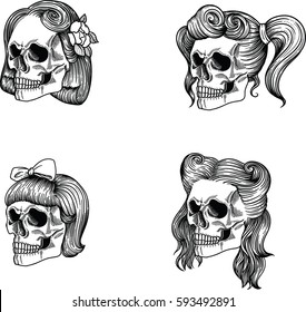 Female Skull Images Stock Photos Vectors Shutterstock