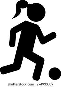 Female Soccer Player Football