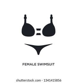 cea302754f female swimsuit isolated icon. simple element illustration from woman  clothing concept icons. female swimsuit