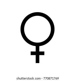 Female symbol. Vector illustration