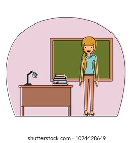 female teacher in classroom