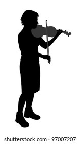 Female violinist (vector)
