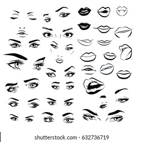Cartoon Female Eyes Images Stock Photos Vectors Shutterstock