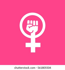 Female Woman Feminism Protest Hand Icon