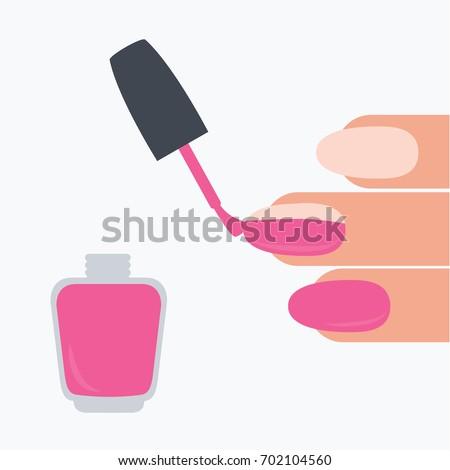 Female Woman Fingers Isolated Cartoon Closeup Stock Vector Royalty
