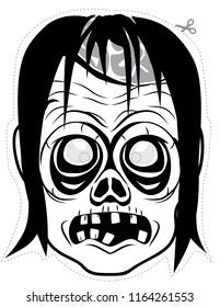 Female zombie mask