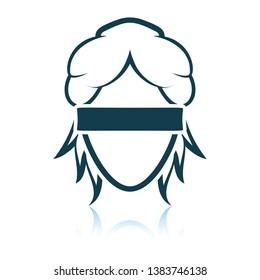 Femida head icon. Shadow reflection design. Vector illustration.