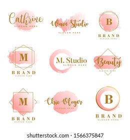 Feminine logo collections template  vector
