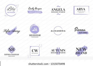 Feminine Vintage Retro Vector Logo for banner, poster, flyer