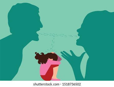 Feminism - Violence Against Women - Women Rights - child between fight