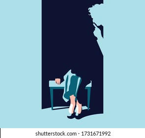 Feminism - Violence Against Women - Women Rights - shadow of man shutting up woman