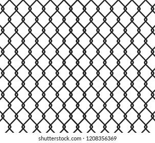 Fence black background - vector