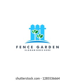 fence garden logo template vector illustration
