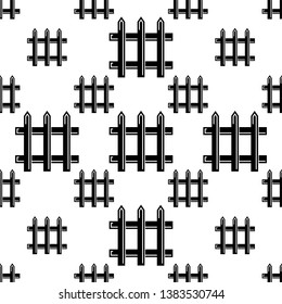 Fence Icon Seamless Pattern Vector Art Illustration