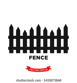 fence icon vector logo template