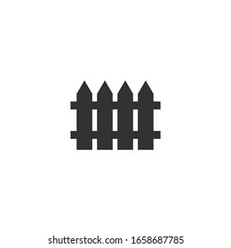 Fence icon, vector on a white background
