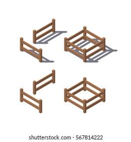 fence Isometric Vector Illustration Created For Mobile, Web, Decor, Print Products, Application on white background