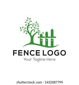 Fence Logo Template Stock Vector