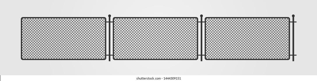 Fence mesh silhouette icon on gray background. Flat style. Vector illustration.