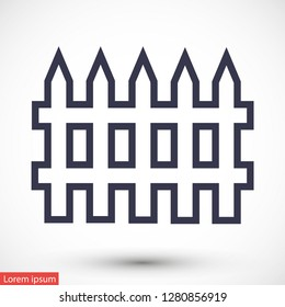 fence vector icon 10 eps