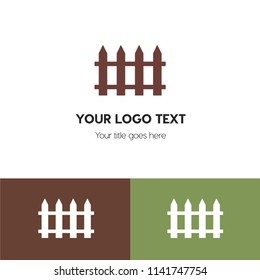 Fence,wall,gate logo template. Logo branding for your new corporate company. File can be use vector eps and image jpg formats
