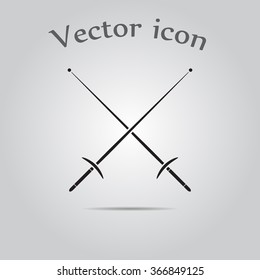 Fencing sport icons