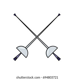 Fencing sport word