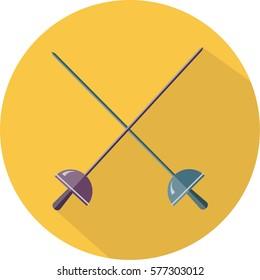 fencing swordplay sport circle