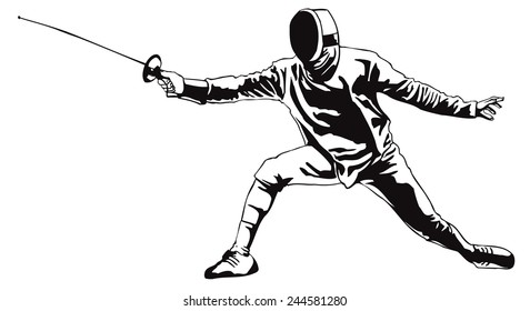 Fencing.Vector illustration