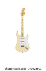 Fender guitar. Vector illustration.