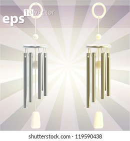 Feng Shui wind chime eps10 vector illustration clipart