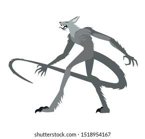 feral chupacabras. wild evil monster
