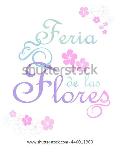 Feria De Las Flores Feast Flowers Stock Vector Royalty Free