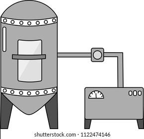 Fermentor or fermenter model