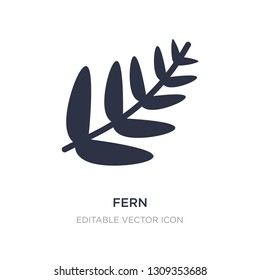 fern icon on white background. Simple element illustration from Nature concept. fern icon symbol design.