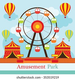 Ferris Wheel, Amusement Park, Carnival, Fun Fair, Circus, Day Scene festival