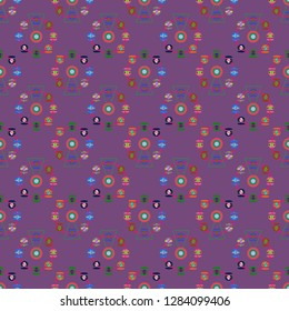 Ferris wheel color seamless pattern.